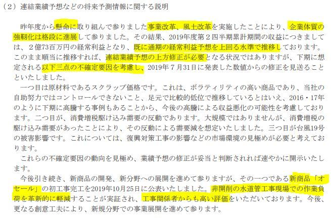20191029日本鋳鉄管予想