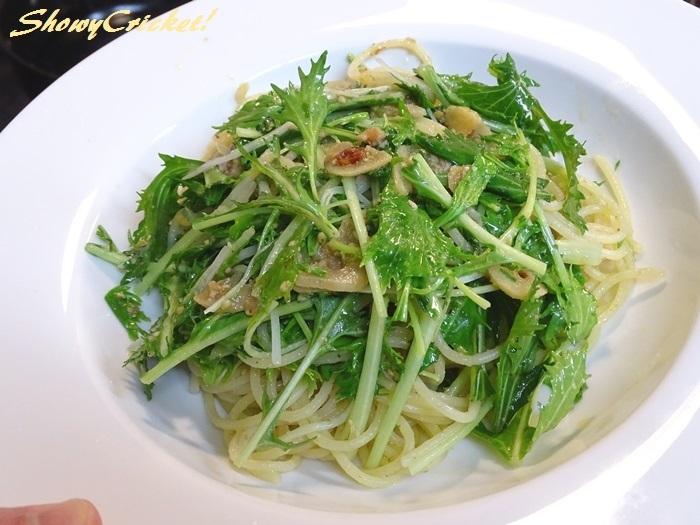 2020-01-29水菜のパスタ (7)