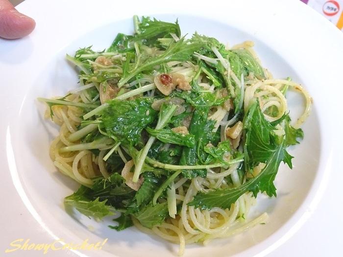 2020-01-29水菜のパスタ (8)