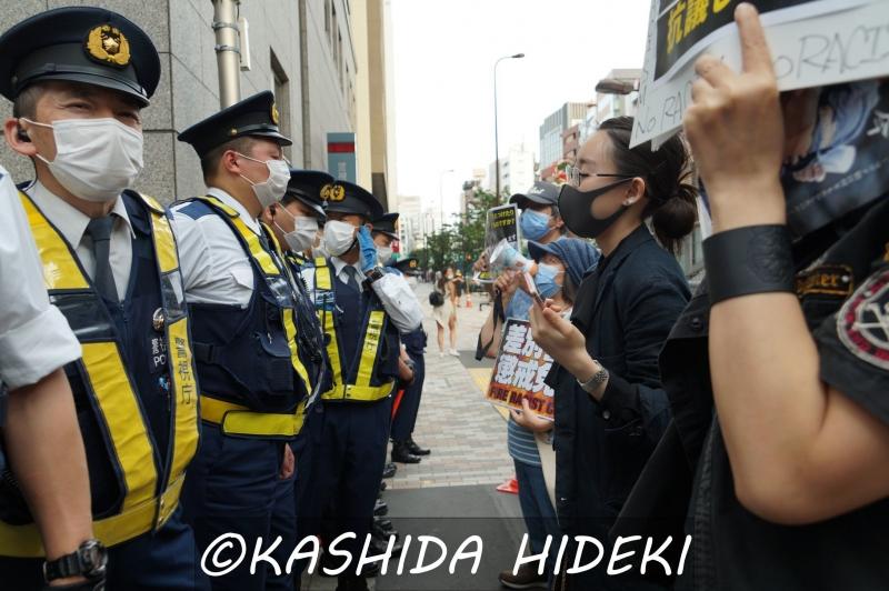 渋谷警察署に抗議4
