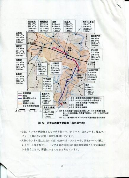 リニア JR東海 沢の流量が7割減る