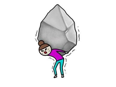 岩を抱える なのなのな