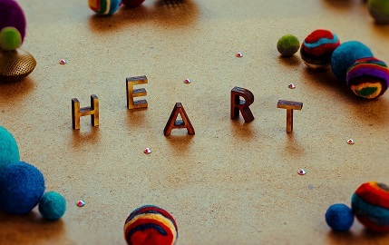HEART 文字 ブロック