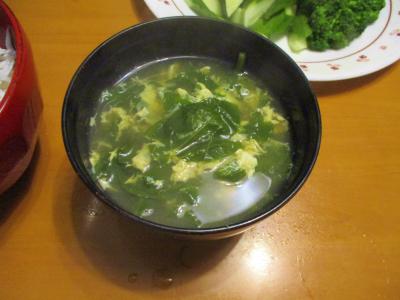 200530ほうれん草と卵の汁