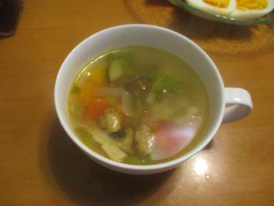 200627夏野菜のコンソメスープ