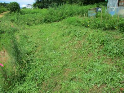 200718ハウス下の里道の草刈り