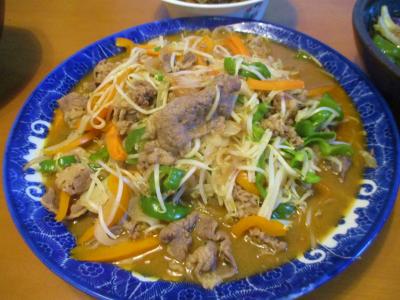 200718プルコギ肉で野菜炒め