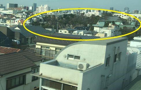 新幹線から見た養玉院如来寺の墓地_R02.01.14撮影