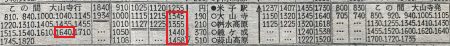 大山バス時刻表②