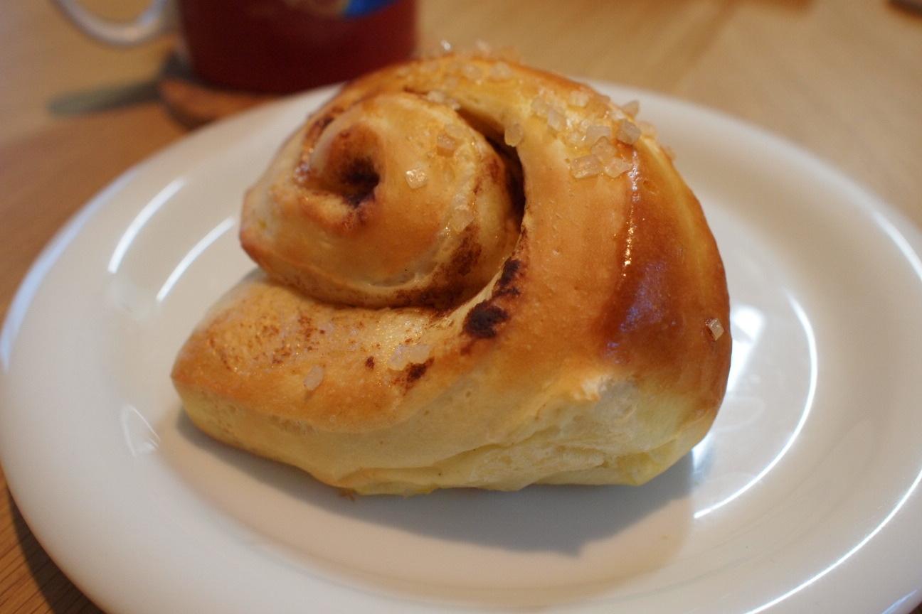 手作りシナモンロールパン!