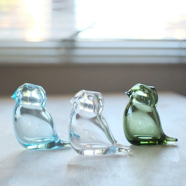 ガラス製の 鳥の会話