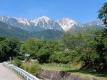 午前中の白馬三山