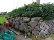 石垣と生垣
