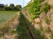 石垣の裾の草刈り