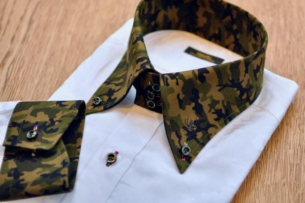 別布クレリック刺繍シャツ