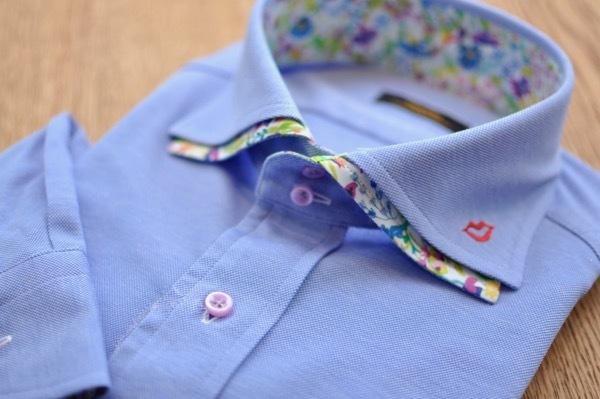 二枚衿刺繍シャツ