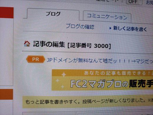 ブログ3000記事 (1)