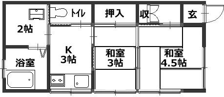 ■物件番号5927 駅近!昭和レトロ平屋!1人暮らしに最適!2K!庭スペース有り!駐車場無料7万円!