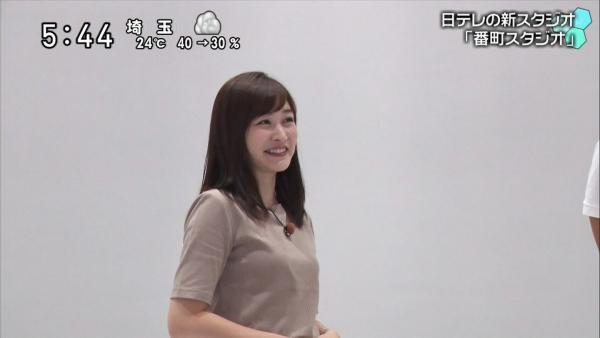 スタジオをレポートする岩田絵里奈のお尻が食い込みクッキリ! (1)