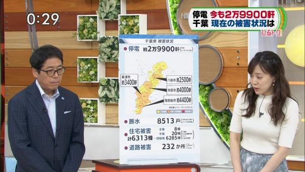 江藤愛、ピチピチニットのエロ巨乳!! (2)
