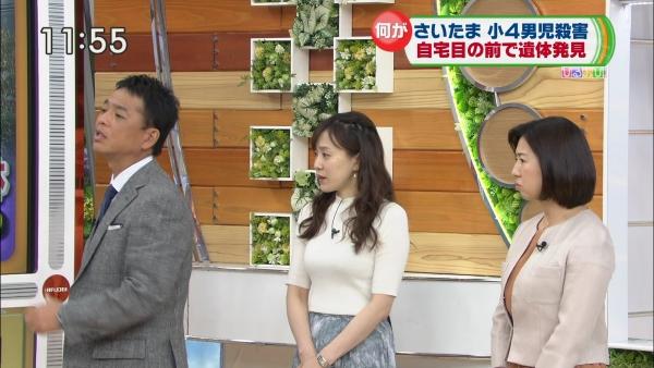 江藤愛、ピチピチニットのエロ巨乳!! (3)