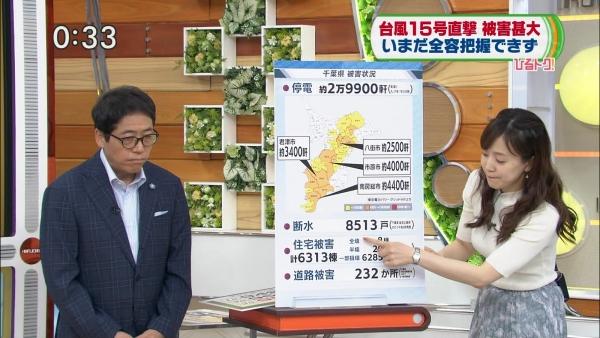 江藤愛、ピチピチニットのエロ巨乳!! (4)