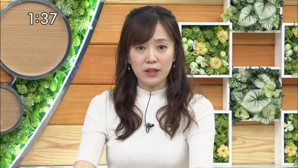 江藤愛、ピチピチニットのエロ巨乳!! (6)