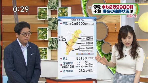 江藤愛、ピチピチニットのエロ巨乳!! (10)