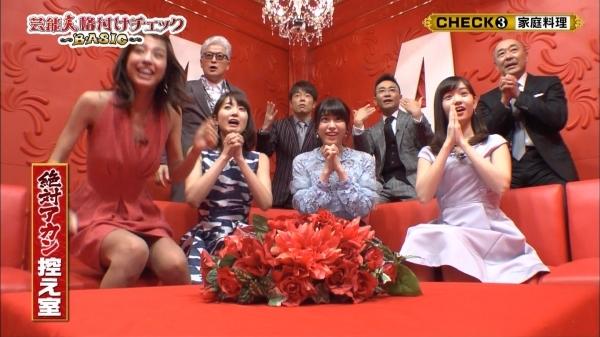 岡副麻希と小野彩香がパンチラ!!パンツ見えそう・・・
