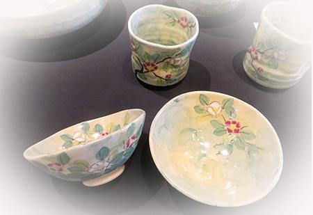 0922やぶ椿ご飯茶碗