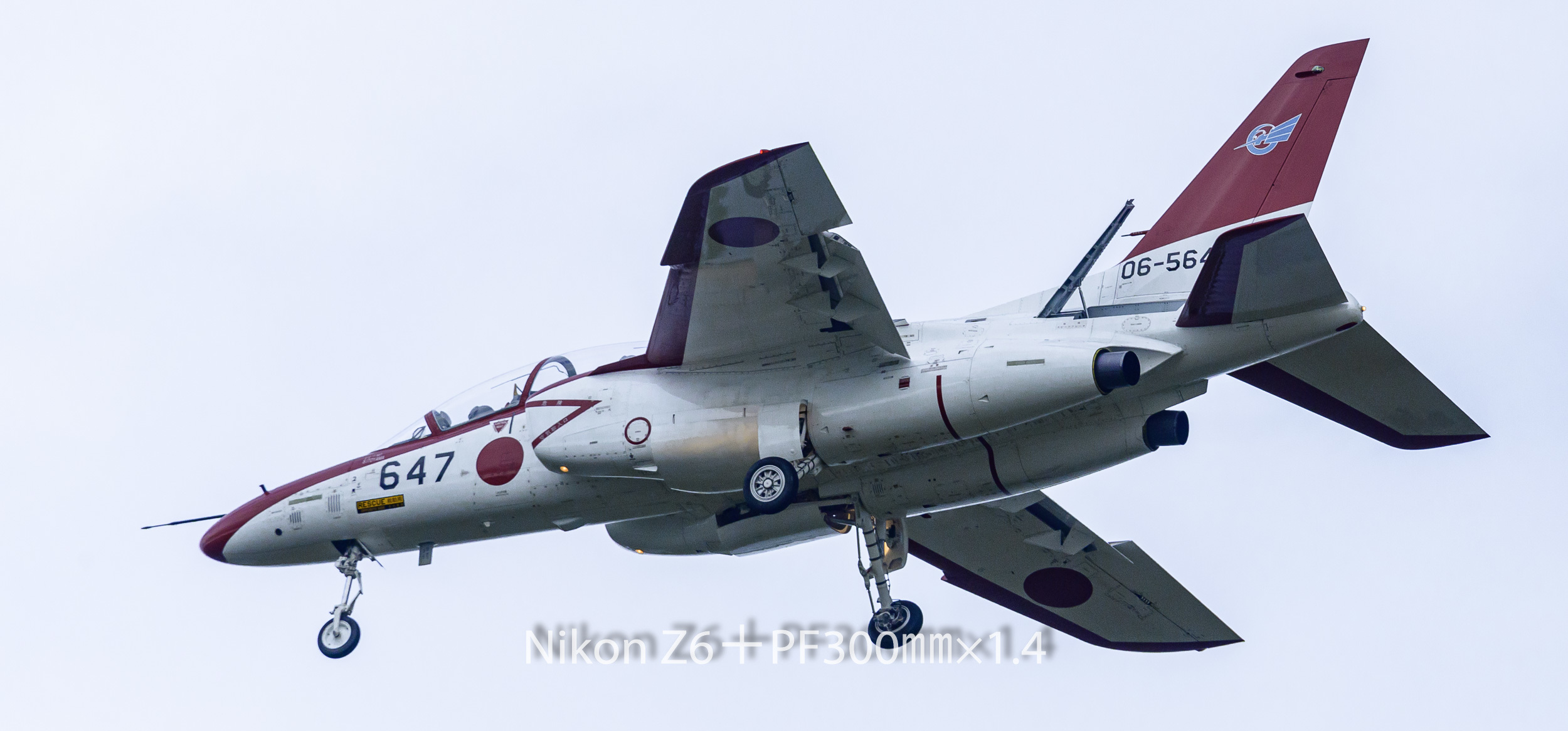 191008 ジェット練習機-32 NIKON Z 6 ISO 1000 420 mm 5196 x 2425