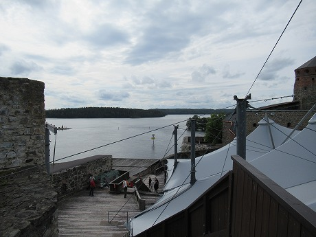 Olavilinna屋上から