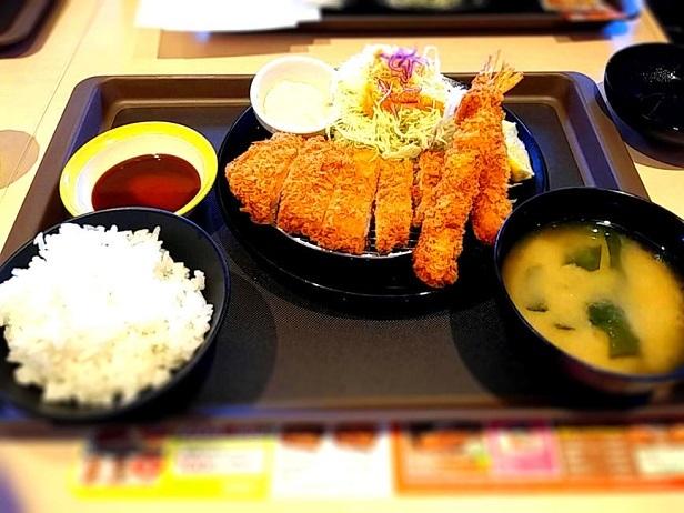 2 ロース&海老二尾定食