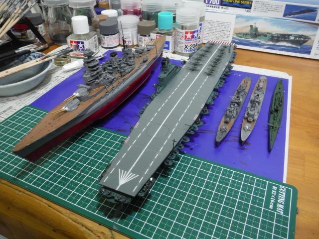 04信濃と陸奥と駆逐艦700分の1