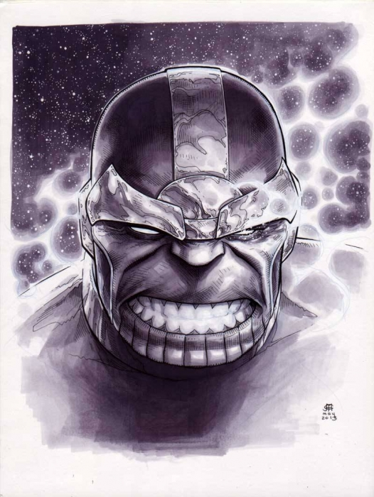 Jim Cheung Thanos copic