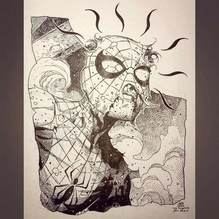 Jim Cheung Spidey damage