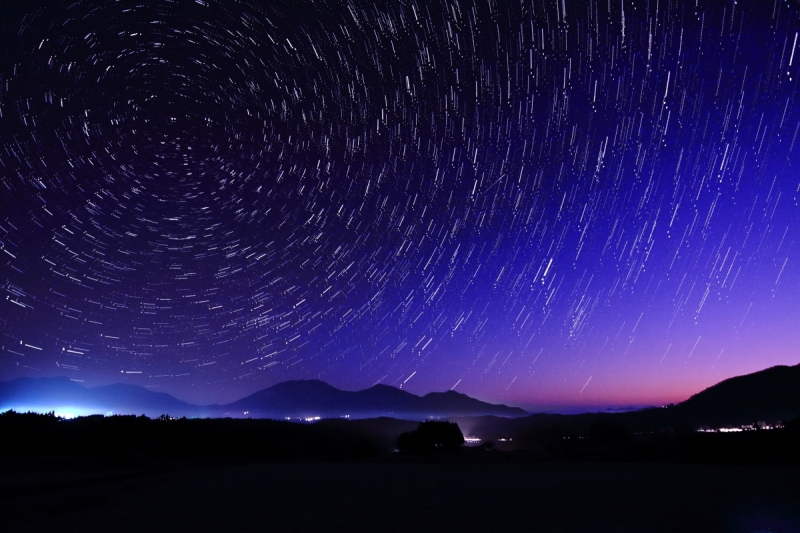 蒜山展望台星空