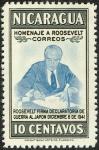 ニカラグア・ルーズヴェルト追悼(対日宣戦布告)