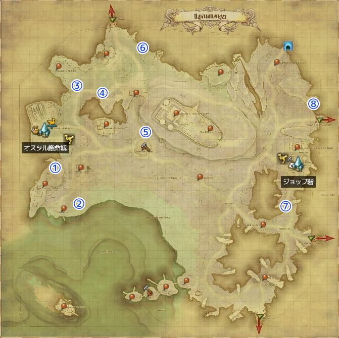 地図 g12 の 宝