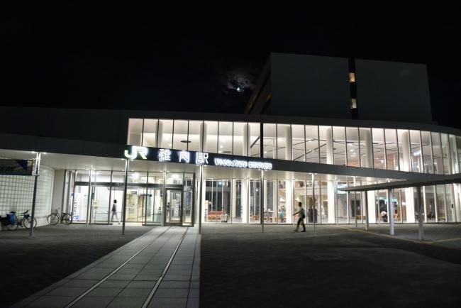 171稚内駅夜