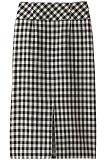 フロントスリットギンガムタイトスカート